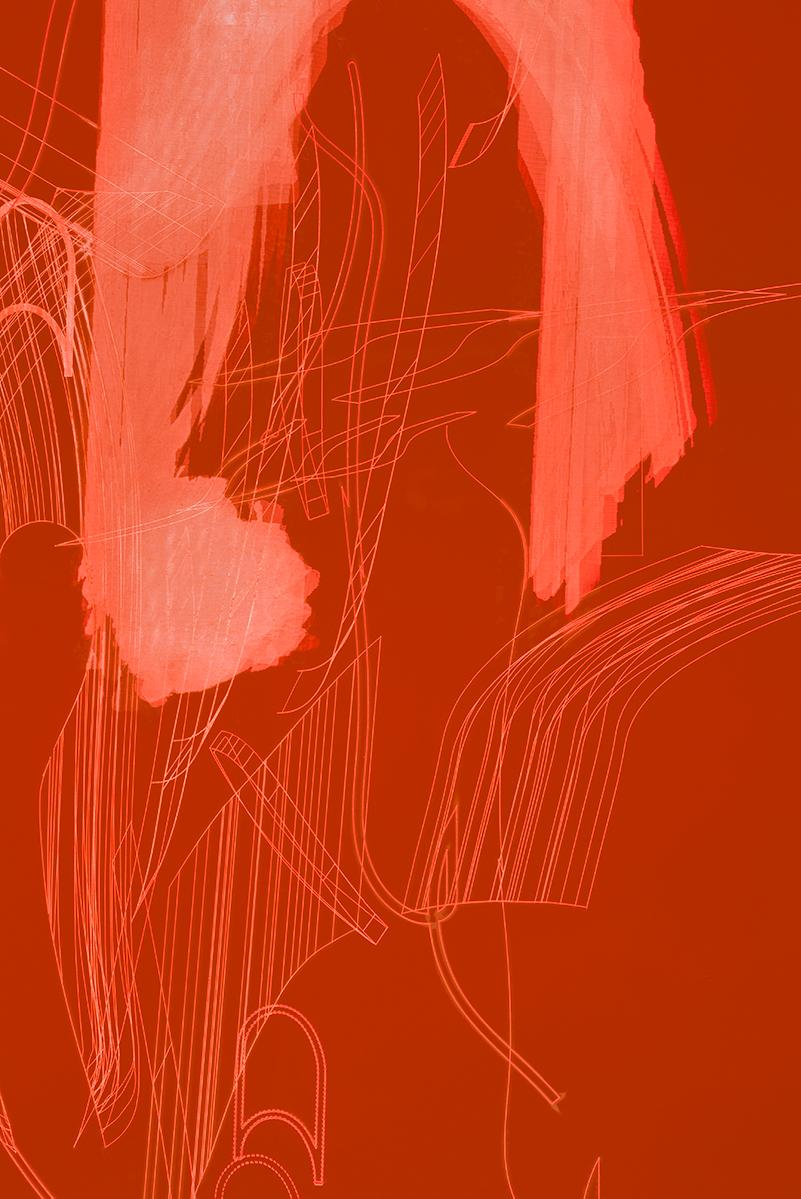 002_Fluorescentplexiglass sheet on aluminium frame_Detail_IV