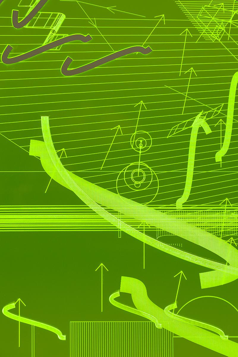 006_Fluorescentplexiglass sheet on aluminium frame_Detail_II