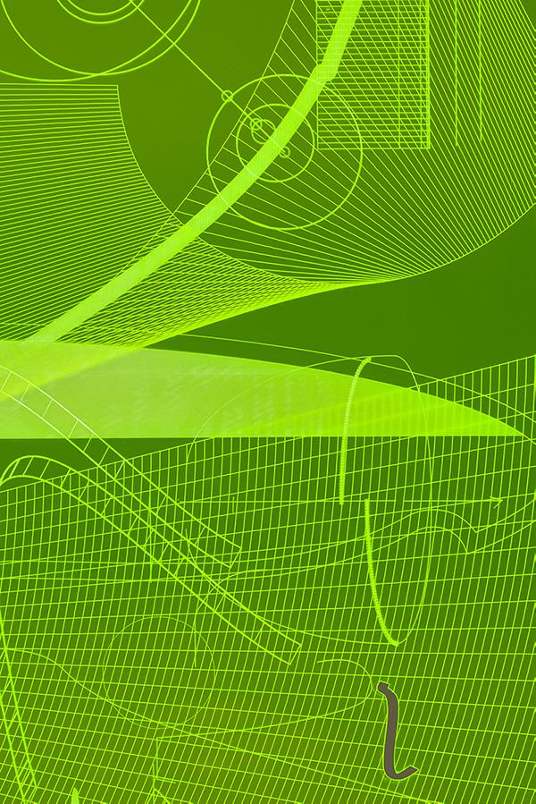 006_Fluorescentplexiglass sheet on aluminium frame_Detail_III