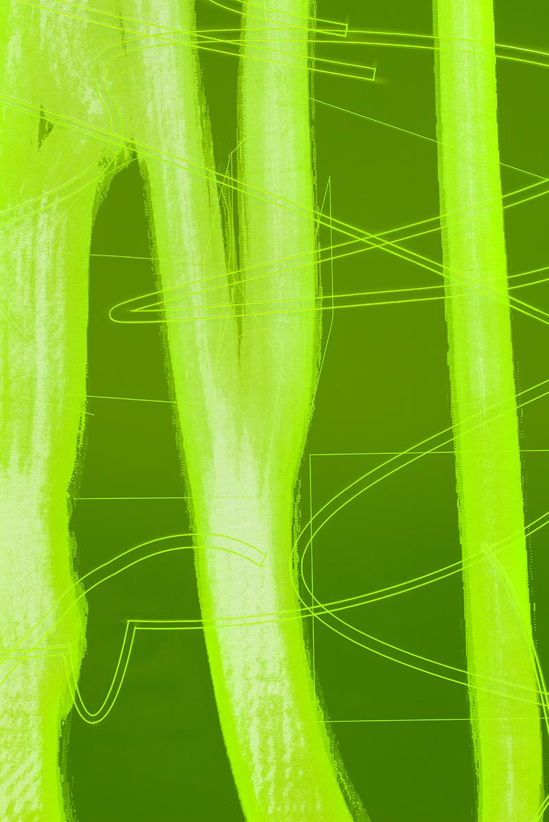 009_Fluorescentplexiglass sheet on aluminium frame_Detail_II